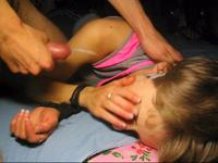 Hot blonde sleeping her cummed onto