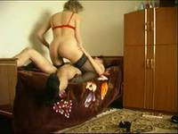 Blonde Milf boned with a shaved teen rod