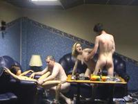 Swingers get naked and hit it on hard