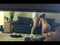 Voyeur Sextape With The GF On The Sofa