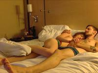 A tan-lined slut gets on top of her lover