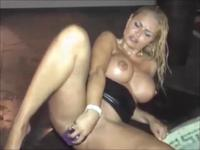 Horny Blonde Milf Loves To Masturbate For Camera