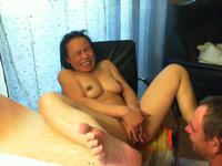 Asian girl has her pussy licked