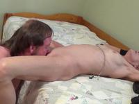 Milf is getting her pussy licked