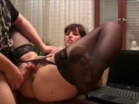 Teen is spreading her legs open