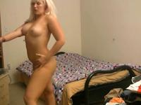 Big ass blonde shakes her ass