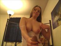 Teen removes her clothes