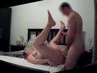 Noisy housewife has multiple orgasms in sex tape