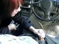 My teen lover sucks my cock in the car!