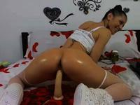 Tight woman uses her sex toys