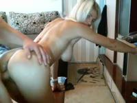A blonde is fucked from behind