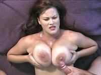 Busty milf gets cum ob her malons