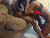 Fucked his ebony girlfriend in the chair