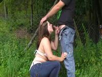 Getting a nice BJ outdoors