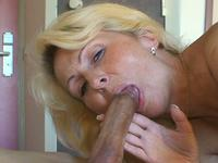 Blonde MILF fucks with her neighbor