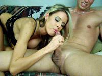 Blonde webcam cock sucker in action