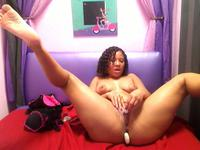 Ebony honey is home alone