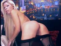 Lusty blonde dancing for us