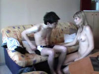Teen blonde banged hard and deep