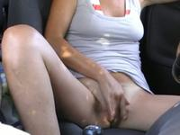 Touching myself in the car
