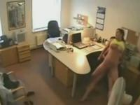 Lustful boss is caught by a hidden camara fucking his best friend wife,!damn!