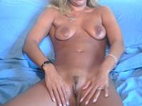 So pretty painted blonde wife is filmed on video by lusful husband and share