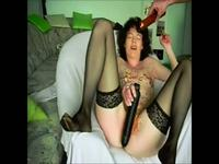 Wax and a long dildo for her