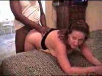 Wife loved her first BBC!!!!  He did too she made him cum twice!!!