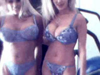 Blond bombshell strips on webcam