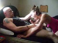 Deep blowjob before good sex